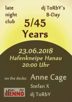 Five Fourty Five Years - DJ Torby - 23. juni - 20 uhr