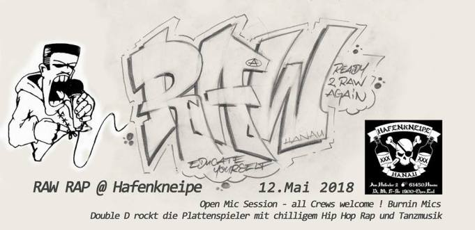 Raw Rap - Samstag 12. Mai - 19 Uhr